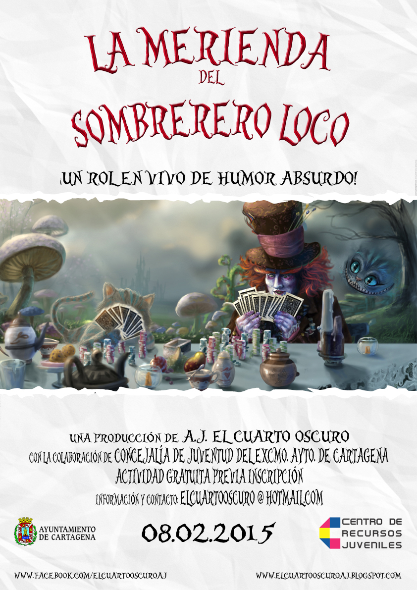 Carnaval Lúdico: La merienda del Sombrerero Loco [Rol en Vivo]