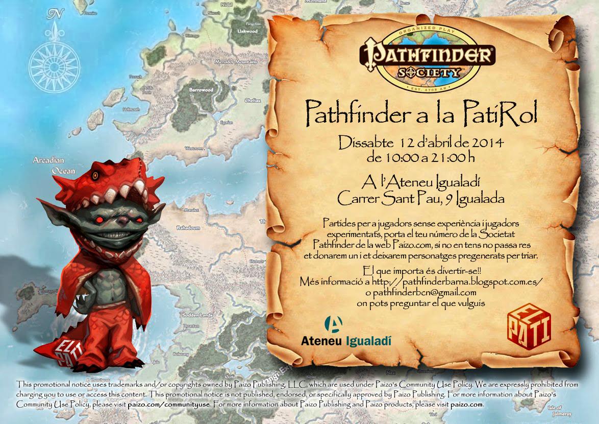 Evento de la Sociedad Pathfinder en Igualada